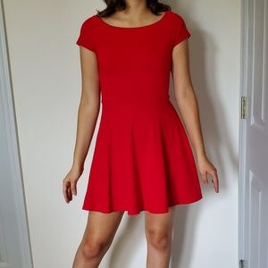 Red Fit and Flare Mini Dress
